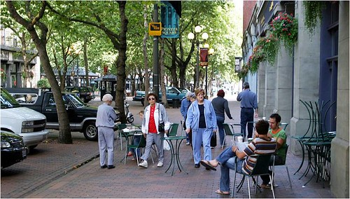 Seattle's walk-friendly Pioneer Square (via: Walk Friendly Communities/PBIC)
