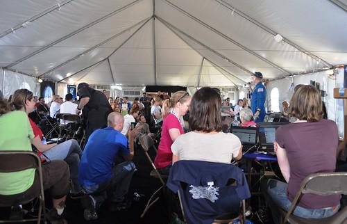 NASA Tweetup Participants Listen to Astronaut Clay Anderson (@Astro_Clay)