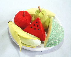 Felt fruit set2