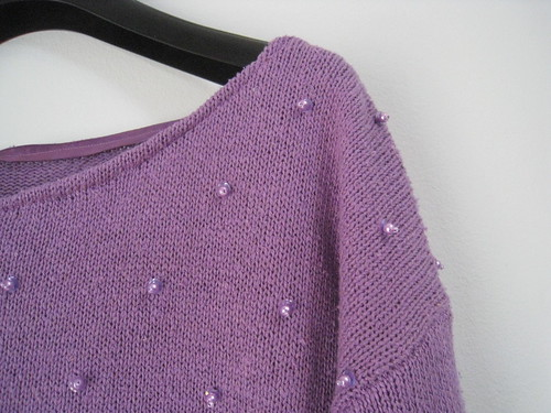 purple pearl sweater
