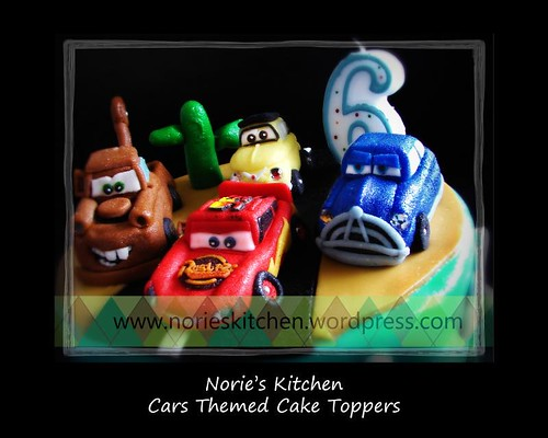 Norie's Kitchen - Cars Themed Cake Toppers
