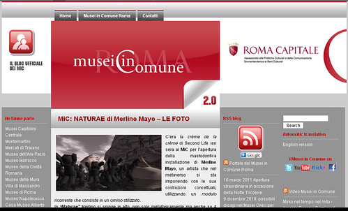 Official Blog of Rome's Museums - MiC Musei in Comune di Roma