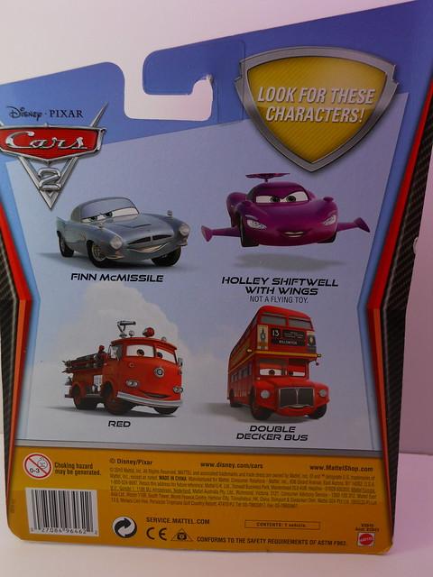 disney cars 2 deluxe cardback