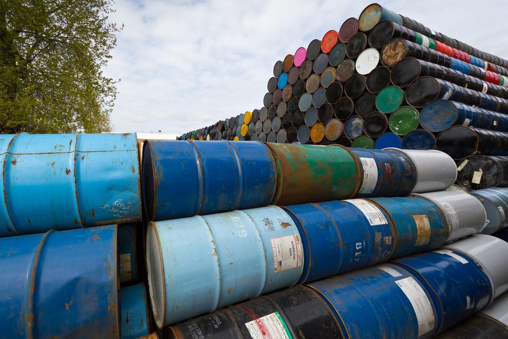 West Marginal Way barrels