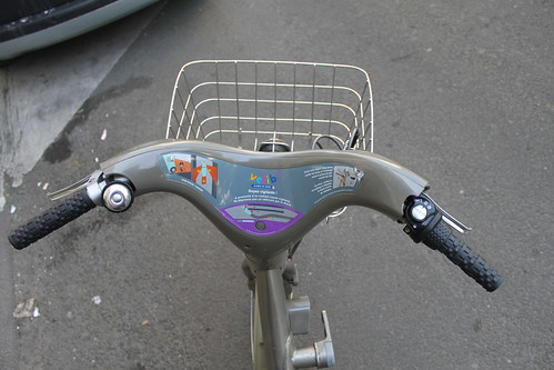 Velib: Basket not bag pouch