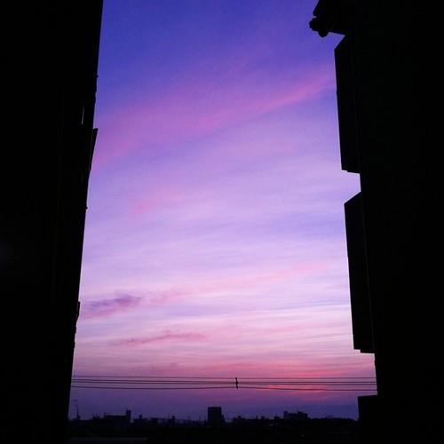 今日も一日、お疲れ様でした。#sunset #iphonography #instagram