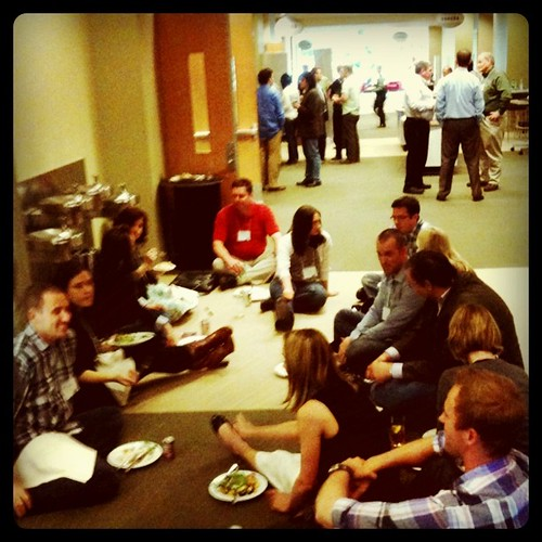 The #SM301 hallway convo turned into a hallway lunch.