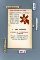 Françoise Sagan, Bonjour tristesse, Longanesi & C., 1965. Quarta di copertina