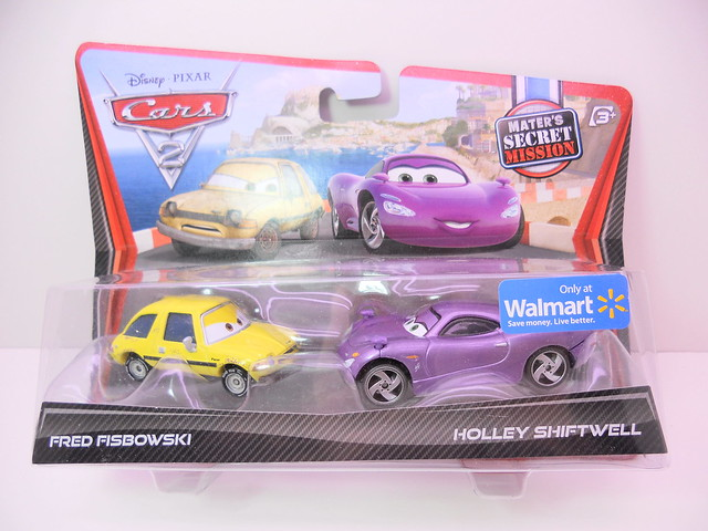 disney cars 2 wm exclusive holley shiftwell n fred fisbowski (1)