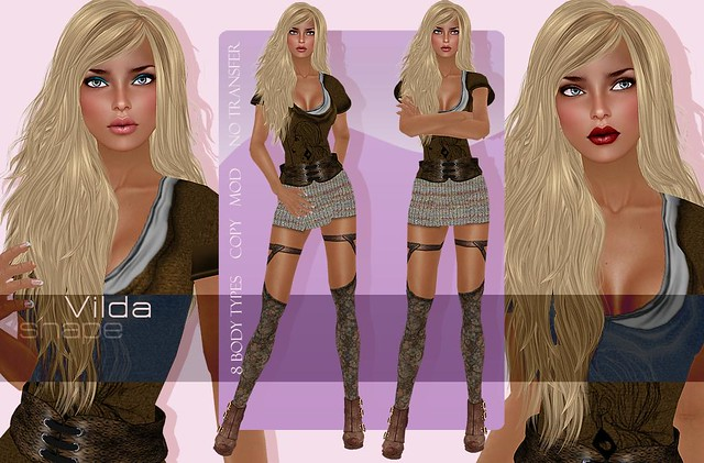 Vilda shape for Vilda skin by LAQ