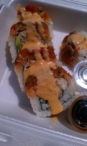 Spicy Tuna Shrimp Tempura Roll