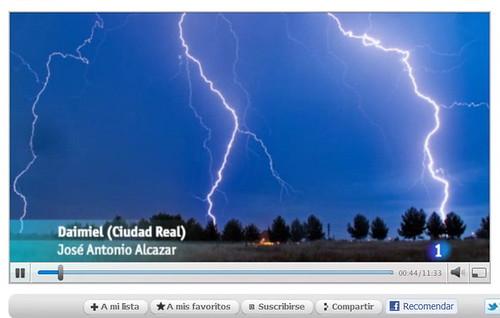 La foto de los rayos en RTVE