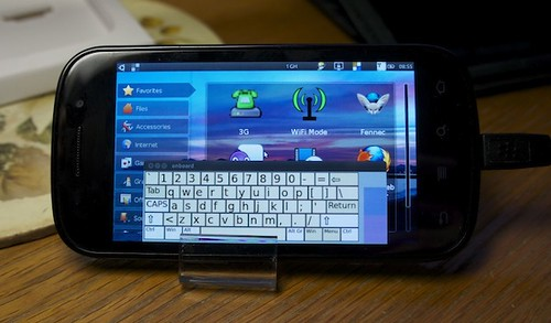 Tampilan Ubuntu pada Google Nexus S
