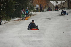 Sledding on Dead Man's Hill