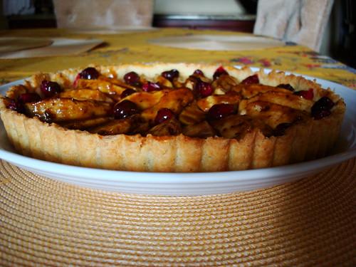 Caramel Apple Cranberry Crostata