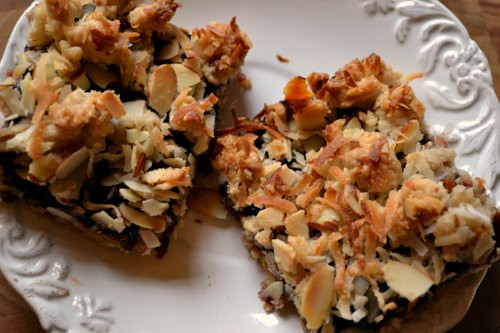 Triple Cherry Streusel Bars