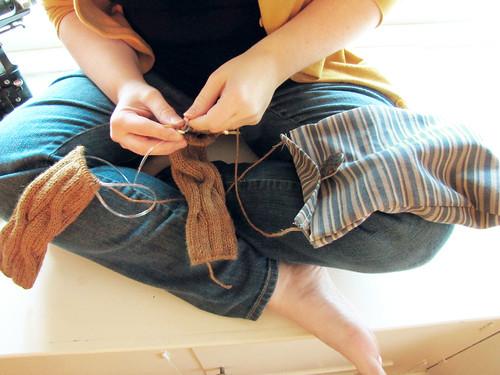 Upcycled yarn bag