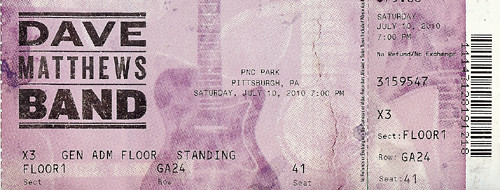 DMB Ticket