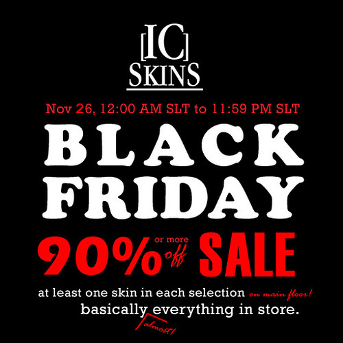 ic skins black friday sale 2010