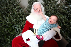 Mia didn't realize she wasn't supposed to punch Santa in the face...