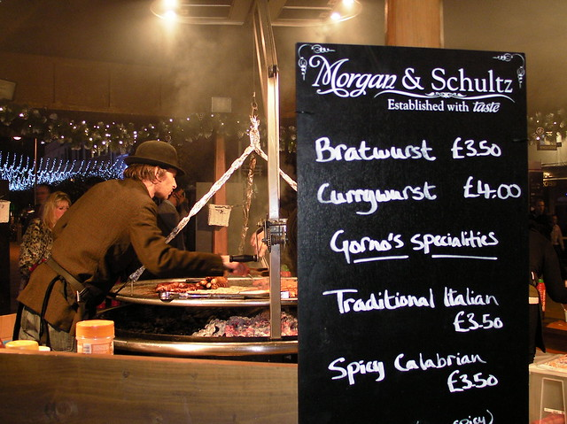 Wurst stall on The Hayes