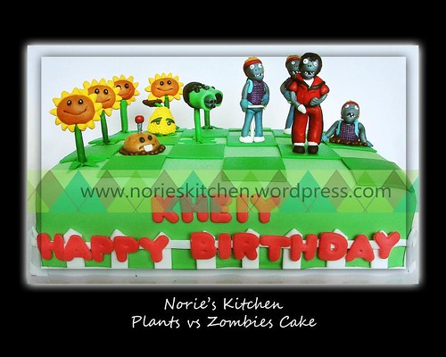 Norie's Kitchen - Plants vs Zombies Cake 6