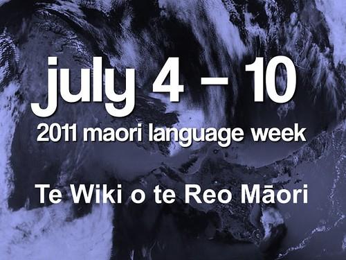 2011 Maori Language Week