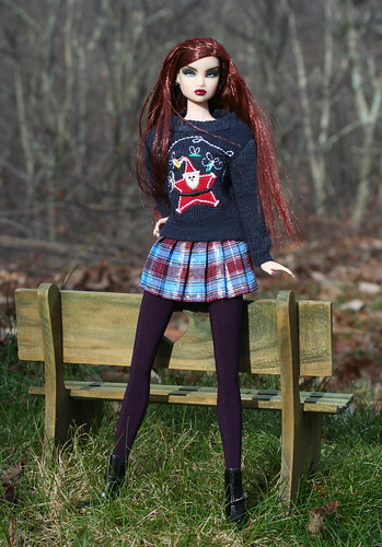 Erin Models Her New Christmas Sweater