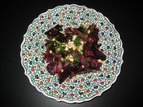 Oven-roasted Moroccan red beet salad