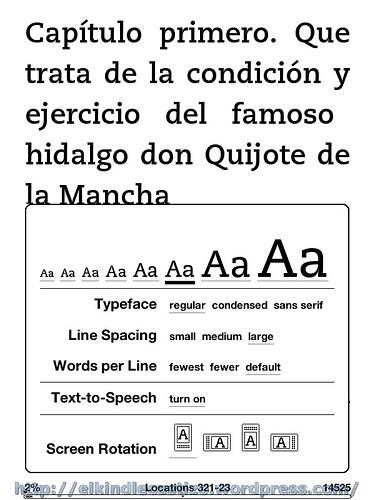 El Quijote - Tamaño de letra 6
