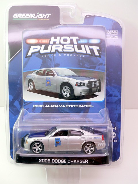 GREEN LIGHT HOT PURSUIT ALABAMA STATE PATROL DODGE CHARGER POLICE CAR  (1)