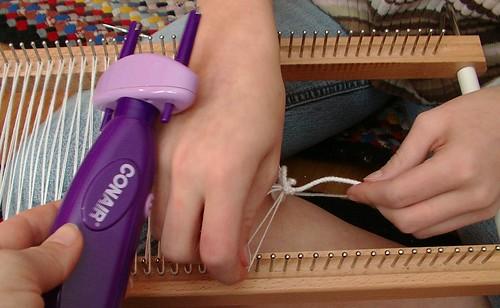 hair tool I am using to make fringe