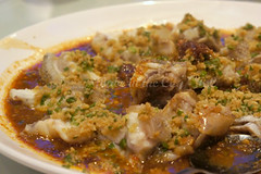 Steamed Giant Garoupa with Minced Ginger & Yel...