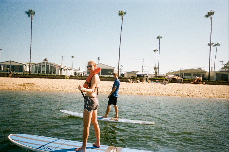 paddle boarding in newport harbor