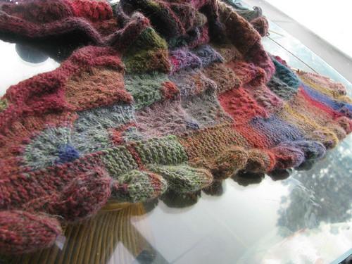 Leaf Knit-On Edge to Koi Garden Test #3 Nearly Done