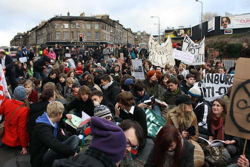 The gathering at the Lib Den HQ, Edinburgh, 2pm