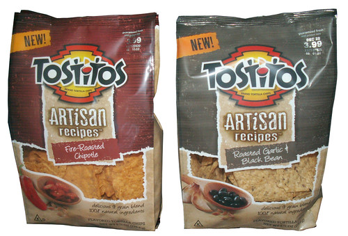 Tostitos Artisan Recipes Fire-Roasted Chipotle and Roasted Garlic & Black Bean