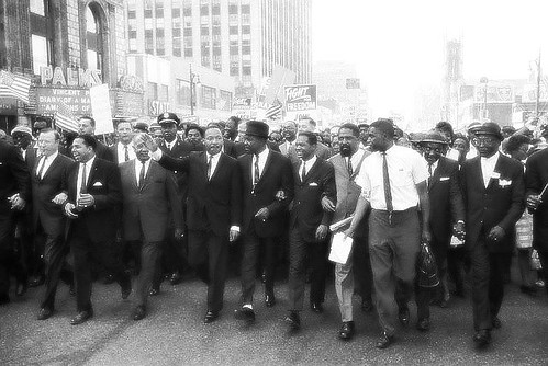Martin Luther King Jr, Walk to Freedom Detroit Michigan, 1963