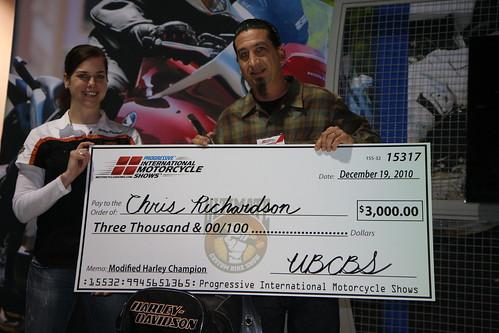 Chris Richardson of LA Speedshop  takes 1st in Mod Harley
