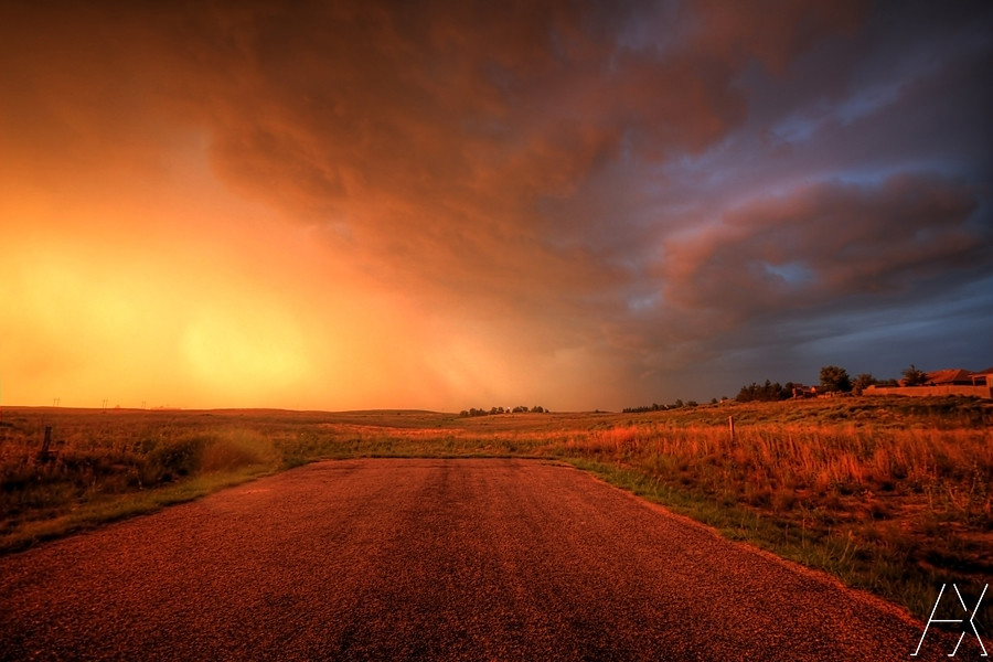 Sunset under the Storm