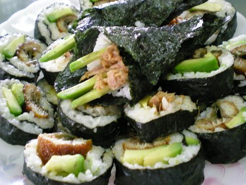Melissa's sushi and California rolls