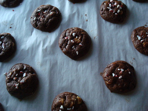 Peppermint Brownie Cookies