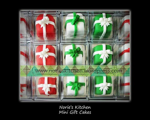 Norie's Kitchen - Mini Christmas Gift Cakes