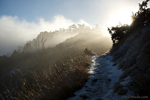 Winter Hiking Sunrise