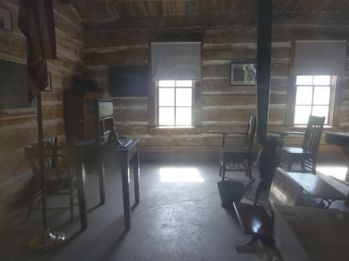 WY - Sweetwater Schoolhouse, inside front of classroom