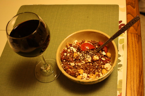 red quinoa and red wine