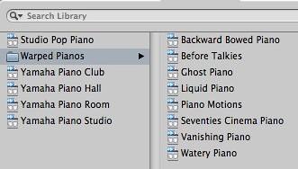 Logic Express 9 - Acoustic Pianos