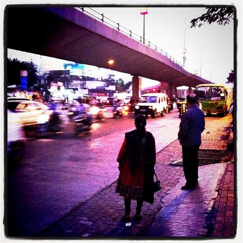 Waiting for a rickshaw