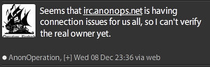 Trust becomes an issue? I thought folk were on @anon_operationn
