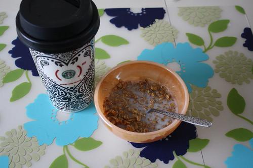 Starbucks Jonathan Adler cup, Jessica's gluten free granola